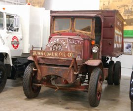 One of the oldest garbage trucks still around at the Waste Pro Museum in Sanford, Florida.