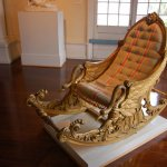 An antique rocking chair at the Lightner Museum in St. Augustine, FL.