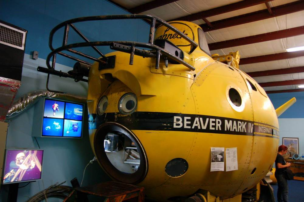 Yep, a yellow submarine. Go on, sing the song. Seen at the Man in the Sea Museum, Florida