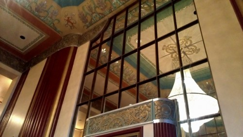 Art Deco details in the Paramount Theatre lobby Aurora IL (photo by Sheila Scarborough)