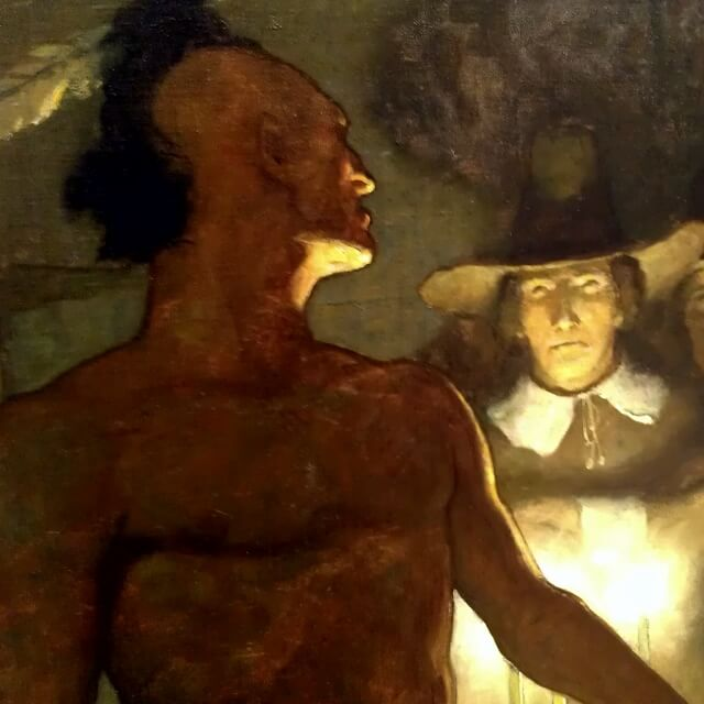 Detail from NC Wyeth's Stern and Defiant at Albrecht-Kemper Museum of Art St Joseph Missouri