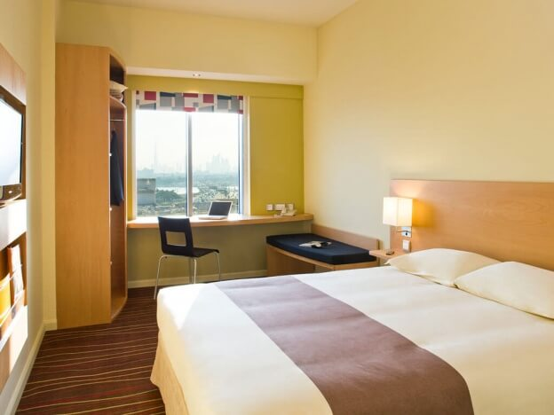 Dubai on a budget; here's a standard double room at the Ibis Dubai Deira City Centre hotel (photo courtesy Accor Hotels)