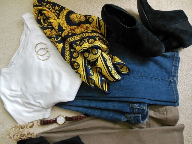 Dressy jeans outfit (photo by Sheila Scarborough)