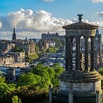 Dugald Stewart Monument and Edinburgh #2