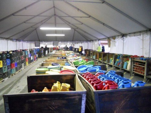 Fiesta factory outlet tent sale (courtesy Homer Laughlin China on Facebook)
