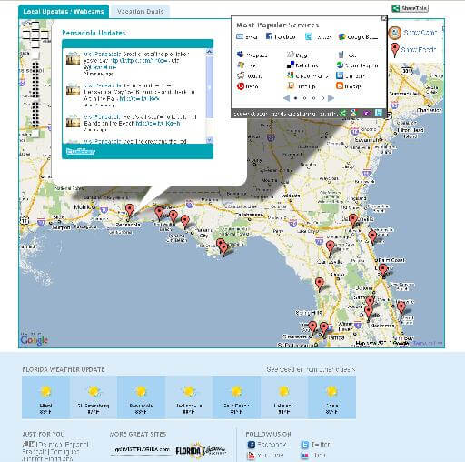 Florida Live tweetmap (courtesy Visit Florida)