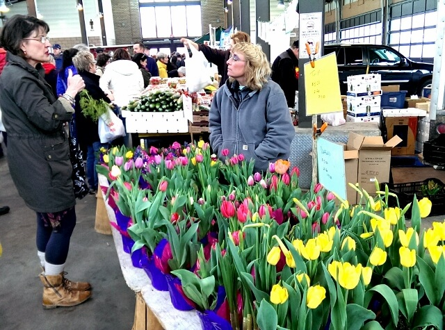 Flowers for sale at Detroit's Eastern Market (photo by Sheila Scarborough)