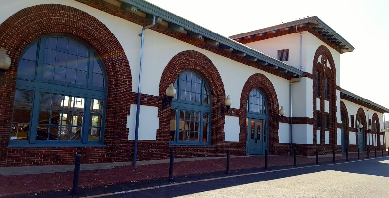 Former railroad depot now an event space Brownwood TX (photo by Sheila Scarborough)