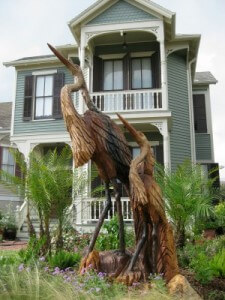 Galveston tree sculpture herons (photo by Sheila Scarborough)