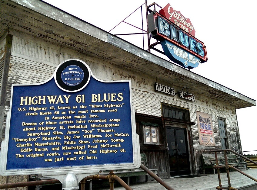 Gateway to the Blues Visitors Center on Highway 61 in Tunica Mississippi (photo by Sheila Scarborough)