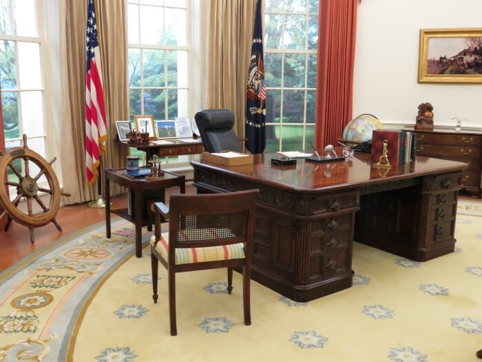 Replica of the Oval Office at the Gerald Ford Presidential Library and Museum in Grand Rapids, Michigan