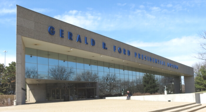 The Gerald Ford Presidential Library and Museum in Grand Rapids, Michigan