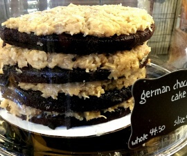 German Chocolate cake at C. Adam's Bakery in the Milwaukee Public Market food hall (photo by Sheila Scarborough)