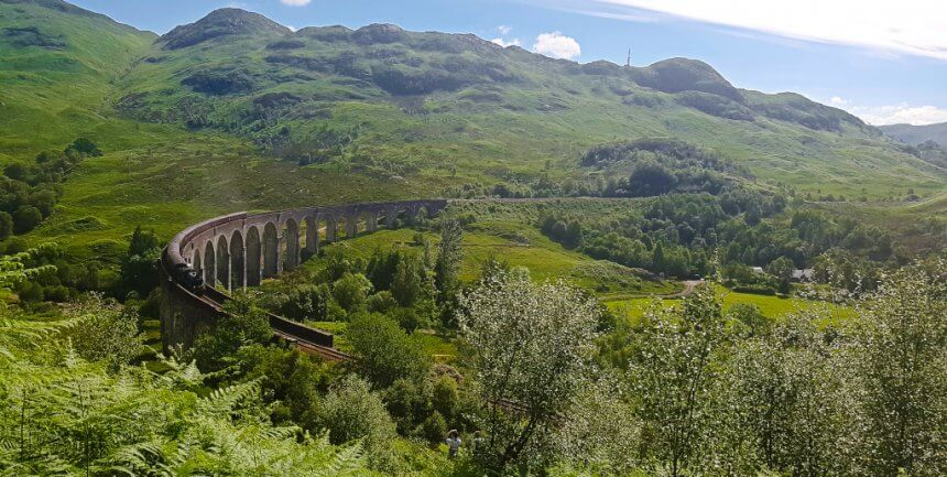 Glenfinnan Viaduct from Harry Potter