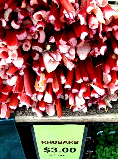 Gorgeous red rhubarb at Detroit's Eastern Market (photo by Sheila Scarborough)