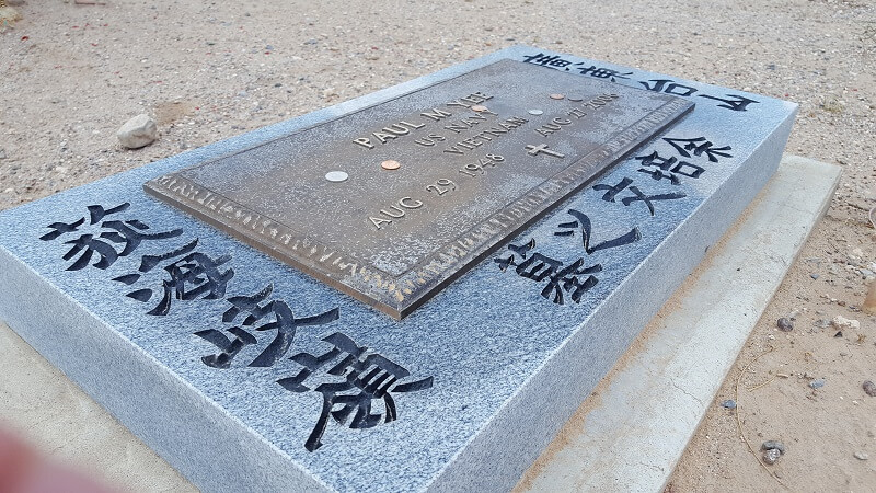 Grave marker in the Chinese section of Concordia Cemetery El Paso TX (photo by Sheila Scarborough)