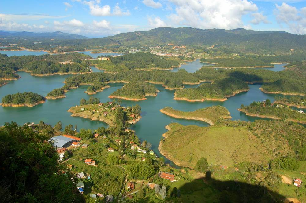 The view from the top. La Piedra, Guatape, Colombia.