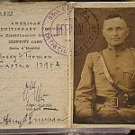 Harry Truman military ID card from World War I at Truman Library Independence MO (photo by Sheila Scarborough)