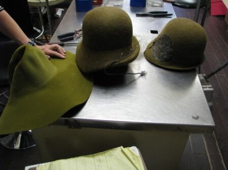 Hat making, from capeline to finished product