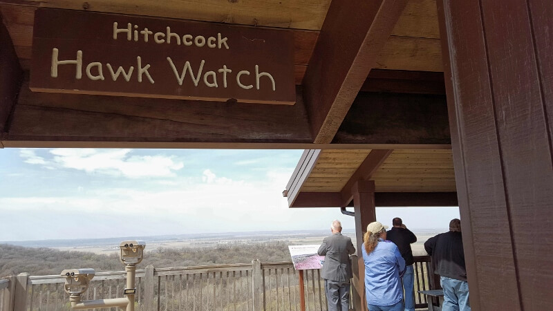 Hawk Watch and overlook at Hitchcock Nature Center on Loess Hills National Scenic Byway Iowa (photo by Sheila Scarborough)
