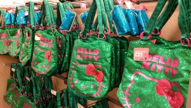 Hello Kitty bags at a Target on Oahu (photo by Sheila Scarborough)