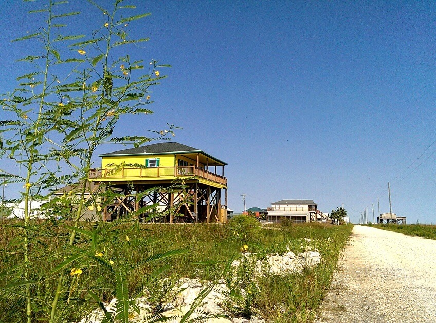 House on Holly Beach Louisiana Creole Nature Trail (photo by Sheila Scarborough)