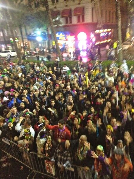 Mardi Gras 2013 crowd