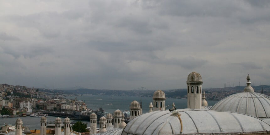 View across the rooftops and the Bosphorus (photo by author)