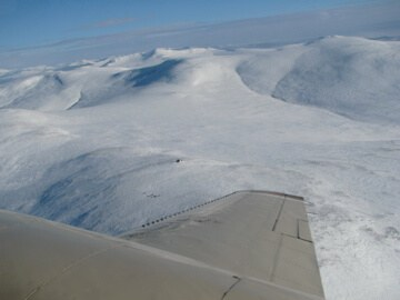 Flying Over the Bering Strait, Alaska