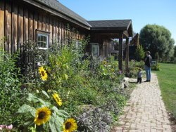 The main building and teaching kitchen at Sprout Creek Farm