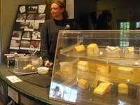 The cheese tasting counter at Sprout Creek Farm