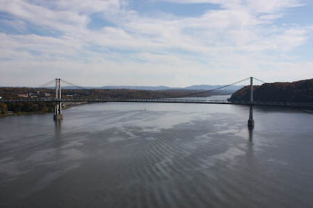 Looking south from the Walkway to the Mid-Hudson Bridge