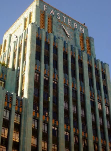 Eastern Columbia Outfitting Company, now lofts, in downtown Los Angeles (by Sheila Scarborough)