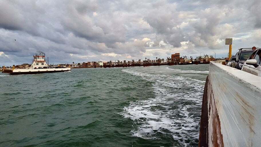 I'm on a boat Port Aransas TX ferry is a quick ride (photo by Sheila Scarborough)