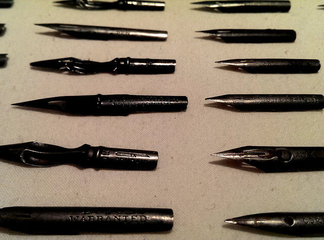 Ink pen nubs from Steamboat Arabia cargo, Kansas City MO (photo by Sheila Scarborough)