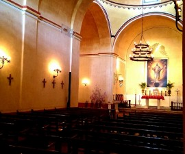 Interior of church Mission Concepcion San Antonio part of a new UNESCO World Heritage site (photo by Sheila Scarborough)