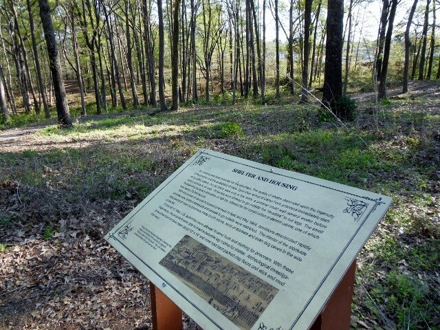 Interpretive trail at Camp Ford Tyler TX (photo by Sheila Scarborough)