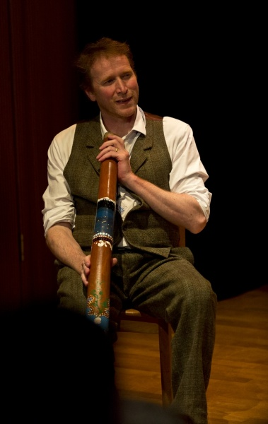 Storyteller Ken Shapley at the Scottish International Storytelling Festival in Edinburgh