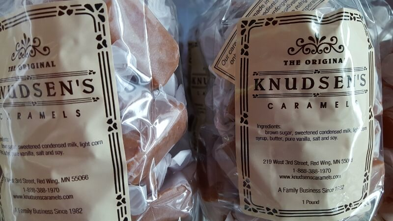 Delicious Knudsen's Caramels made in Red Wing Minnesota (photo by Sheila Scarborough)