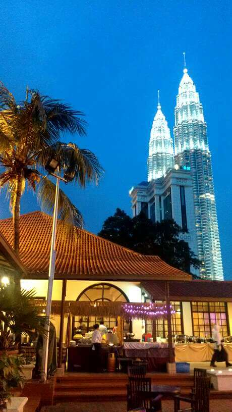 Kuala Lumpur Petronas Towers from Tourism Centre (photo by Sheila Scarborough)