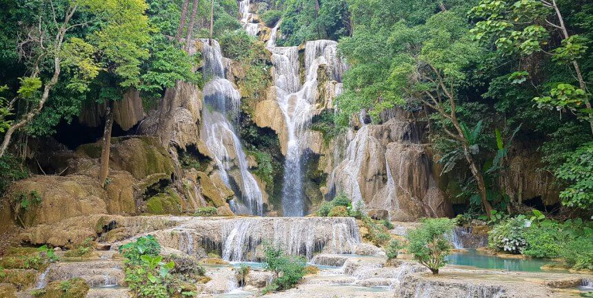 Kuang Si Waterfall in Luang Prabang