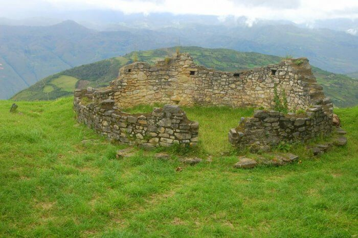 A centuries-old building at Kuelap Fortress in Chachapoyas, Peru.