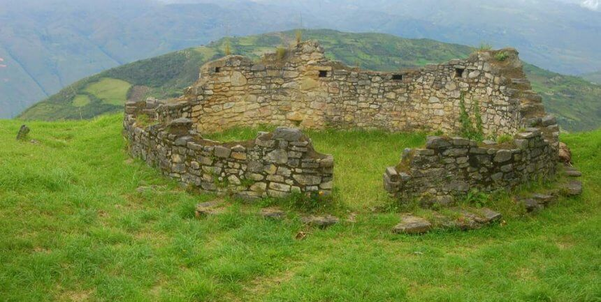 A centuries-old building at Kuelap Fortress in Chachapoyas, Peru (photo by Chris Backe)