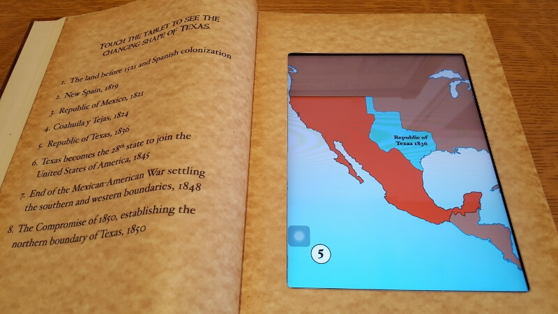 Learning the geography of New Spain and the Republic of Texas at Casa Navarro State Historic Site (photo by Sheila Scarborough)