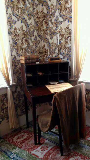Lincoln writing desk in his Springfield IL home (photo by Sheila Scarborough)