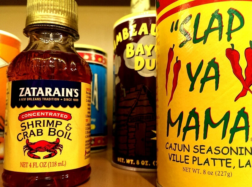 Local Louisiana cooking spices and sauces at Creole Nature Trail Adventure Point (photo by Sheila Scarborough)