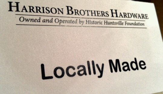 Shop local at Harrison Brothers Hardware in downtown Huntsville, Alabama (photo by Sheila Scarborough)