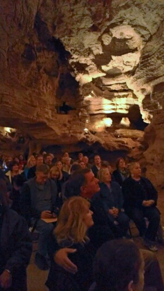 Longhorn Cavern concert audience (photo by Sheila Scarborough)