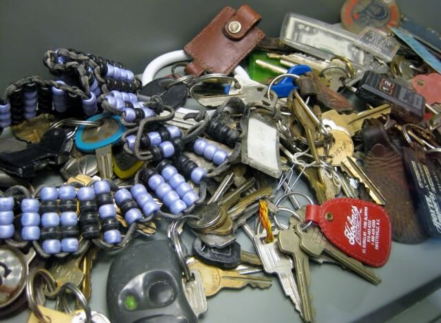 Lost keys from the Oklahoma city bombing on display at OKC's National Memorial and Museum (photo by Sheila Scarborough)