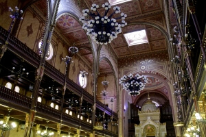 Inside the synagogue.